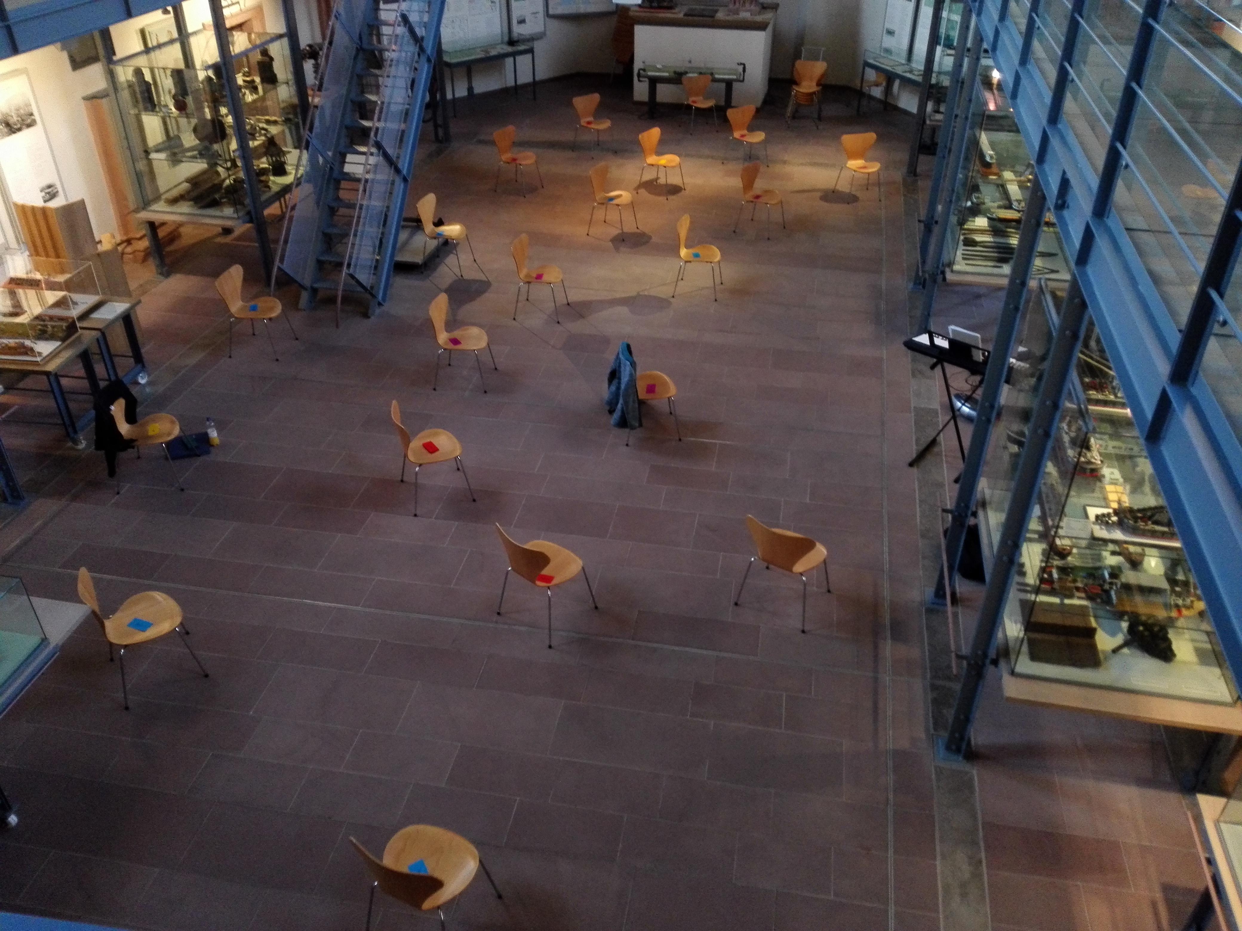 Probe im Schifffahrtsmuseum in Wörth am Main